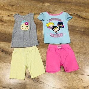 Pair of Toddler Girl's Pajama Sets in Size 5T